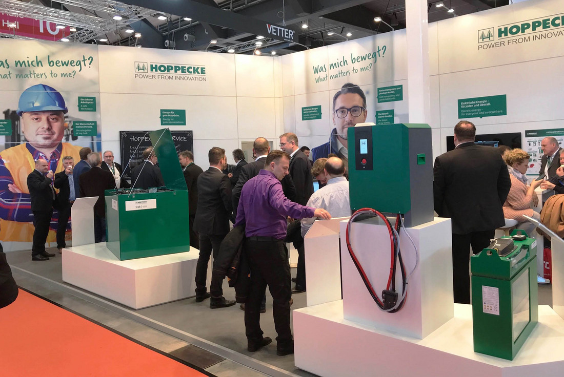 Great interest in HOPPECKE energy storage systems at international trade fairs - Friday, 16.03.2018
