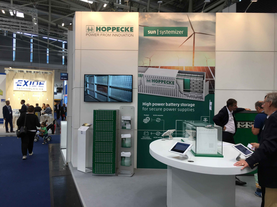 Megatrend renewable energy: Successful Intersolar trade fair for HOPPECKE - Friday, 22.06.2018