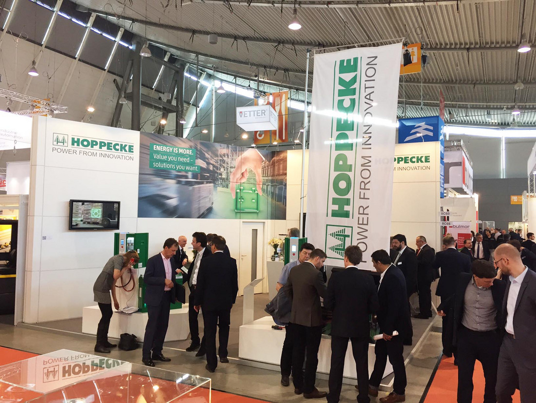 HOPPECKE presents smart energy solutions at LogiMAT 2017 - Tuesday, 14.03.2017